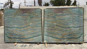 Teal colored quartzite carribean sea wave